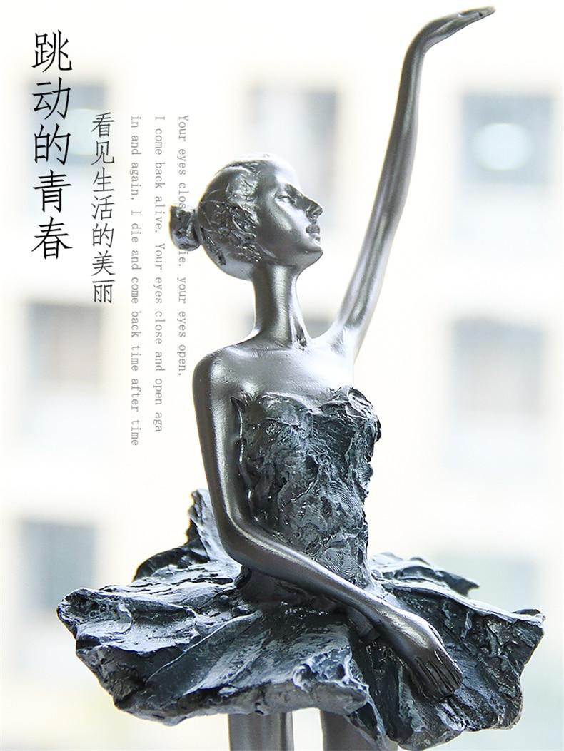 Home Decoration Accessories Blue Ballet Elegant Girl Sculpture Ornament Dance Figures Wedding Decoration Statue Gifts Sculpture