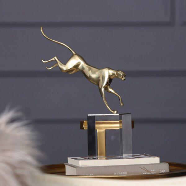 اكسسوار تمثال حياة الفهد البري اكسسوارات منزلية