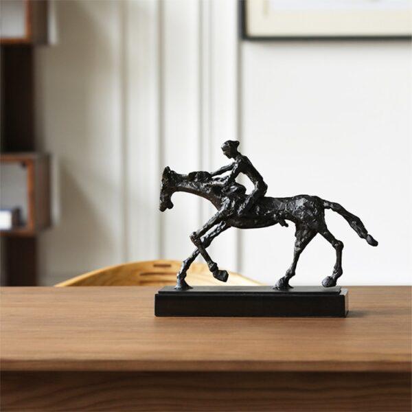 تمثال اكسسوار صور حصان مع فارس اكسسوارات منزلية