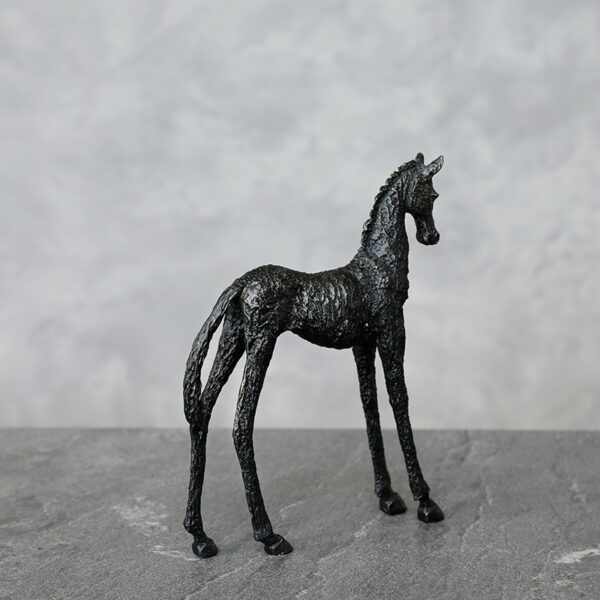 تمثال حصان اسود عربي اكسسوارات منزلية