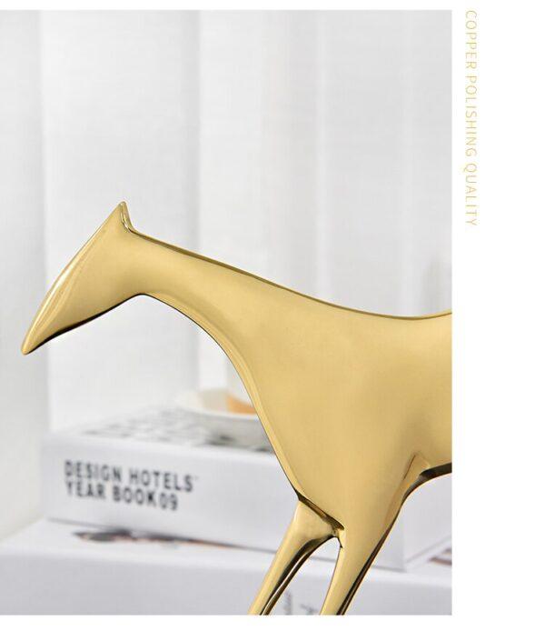 تمثال اكسسوار حصان طروادة الذهبي اكسسوارات منزلية