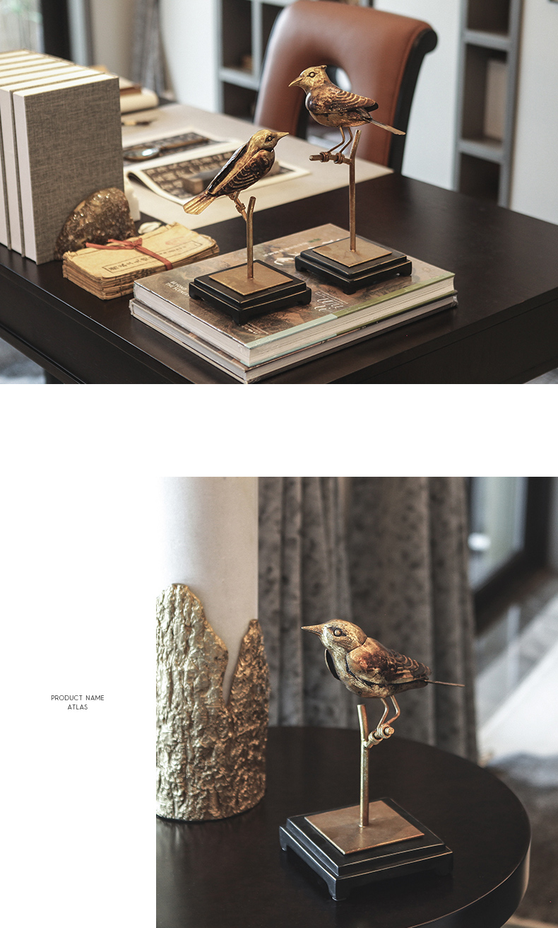 29Cm Resin Magpie Bird Stand On Stand Statue Living Room Home Art Sculpture Window Creative Cmanimal Decoration Accessories Gift