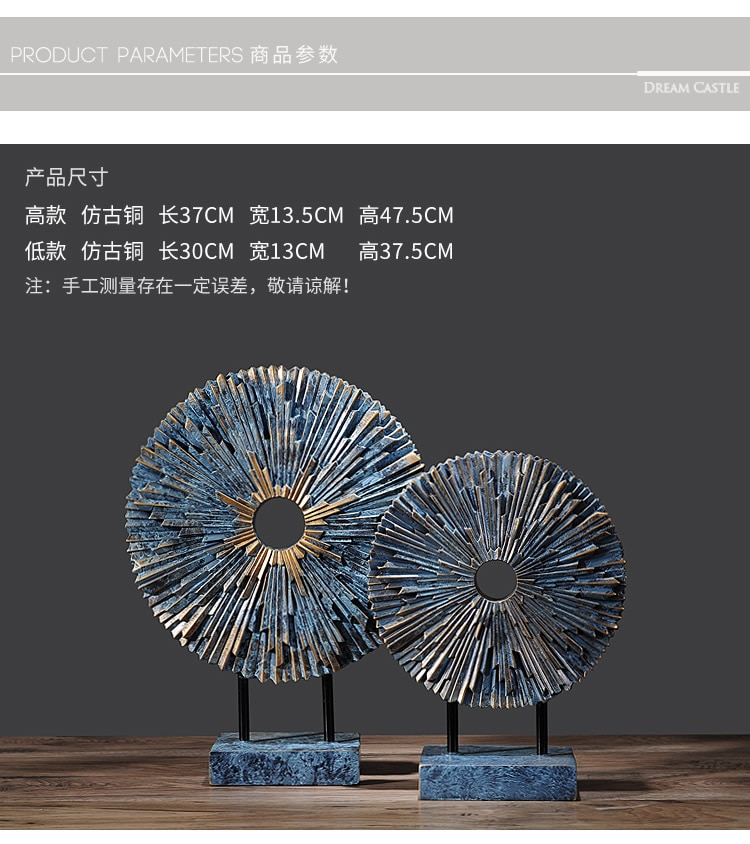 Retro creative resin sun statue home decor crafts room decoration objects office vintage ornament study resin figurines gifts