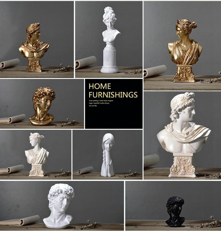 Nordic Resin Character Sculpture Venus Ornament Retro Carving Goddess Statues Decoration Craft Home Study Sketch Model Figurines