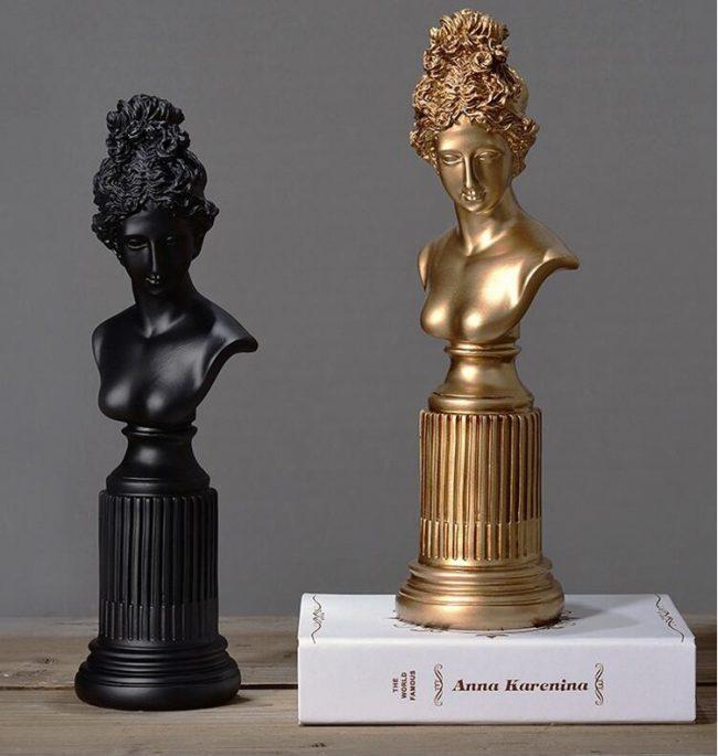 تمثال رأس قيصر العرب اكسسوارات منزلية