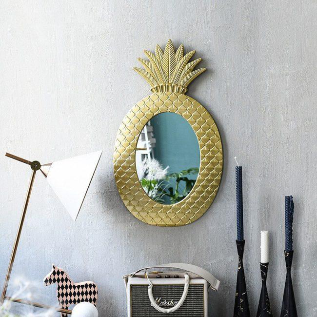 اكسسوارات نبات الأناناس الذهبي الفاخر اكسسوارات جدارية