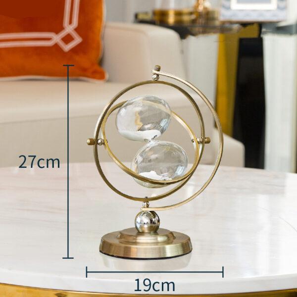 اكسسوار تمثال ساعة رملية متحركة اكسسوارات منزلية