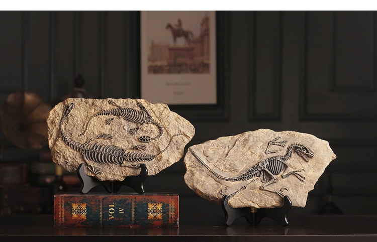 Archaeological Research Dinosaur Fossil Sculpture European Ornaments Ossil Statue Art Home Decoration Accessories Figurine Craft