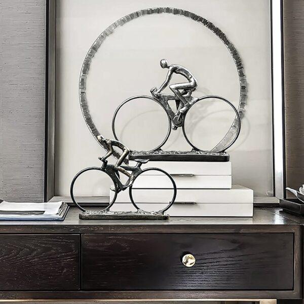 تمثال اكسسوار الدراجة الهوائية الاوروبية اكسسوارات منزلية