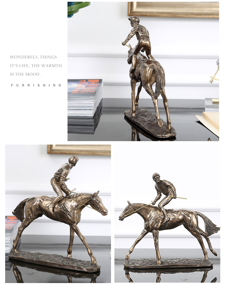 European Resin Horse Racing Decoration Crafts Creative Desktop Ornament Christmas Wedding Gift Creative Figurines