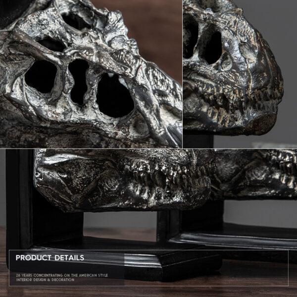 اكسسوار حامل الكتاب رأس الديناصور اكسسوارات منزلية