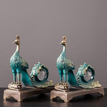 تمثال اكسسوار طاووس ملك اكسسوارات منزلية