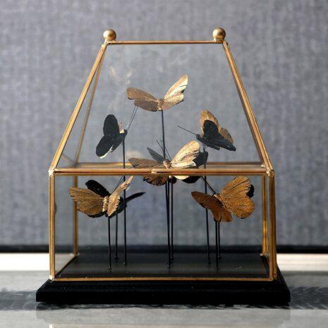 تمثال اكسسوار الفراشات الثلاث اكسسوارات منزلية