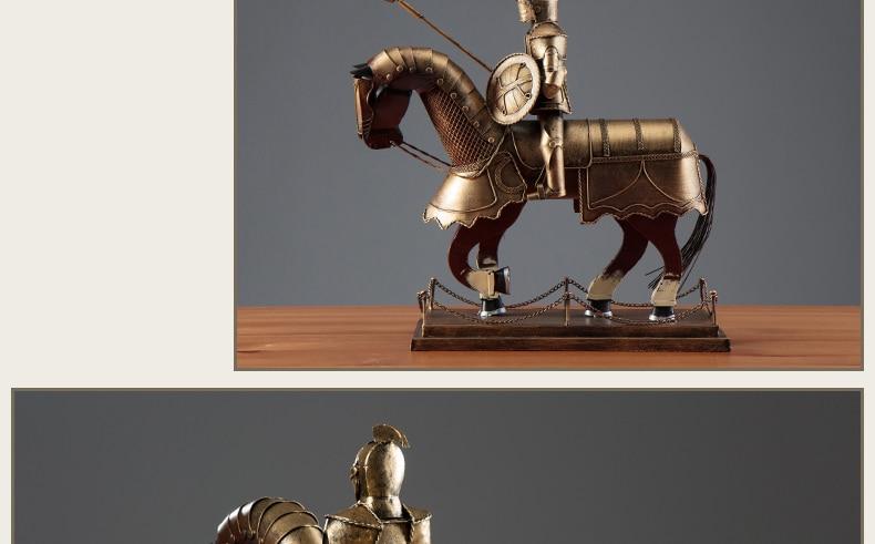 European Medieval Warrior Armor Knight Retro Model Ornaments Ancient Roman Armor Knight Office Home Living Room Decorations