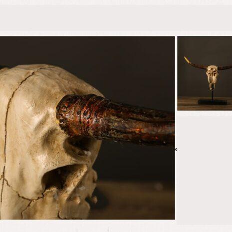 تمثال اكسسوار رأس الثور اكسسوارات منزلية