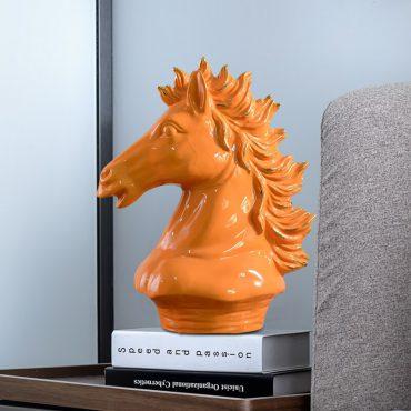 رأس الحصان السيراميكي اكسسوارات منزلية