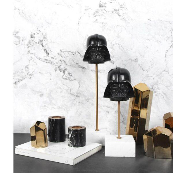 تمثال الفرسان الثلاثة الأسود اكسسوارات منزلية