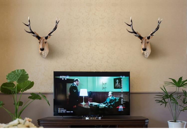 Alaska Moose Elk Head Statue Sculpture Home Wall Decoration Accessories Animal Figurine Wedding Hanging Decorative escultura