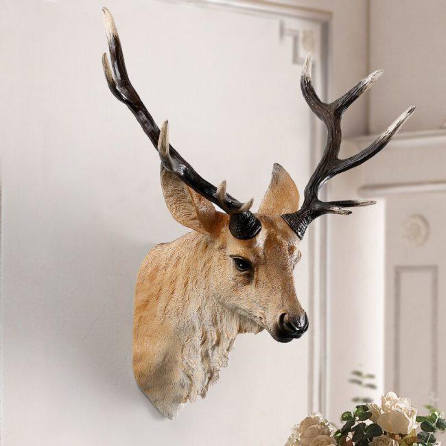 تمثال جداري رأس الغزال البري الفاخر اكسسوارات جدارية