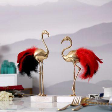تمثال اكسسوار طائر الفلامنجو الفاخر اكسسوارات منزلية