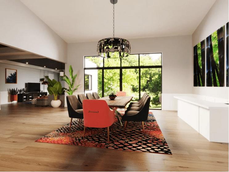 غرفة طعام منزلية جديدة معاصرة