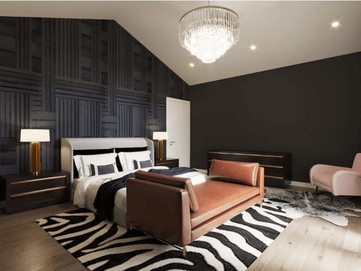 غرفة نوم معاصرة جديدة-المنزل