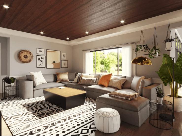 المعاصرة الجديدة-المنزل-الأسرة-الغرفة