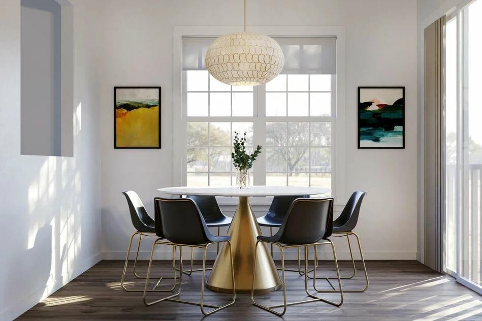 تصميم غرفة الطعام أفكار الأثاث على الإنترنت