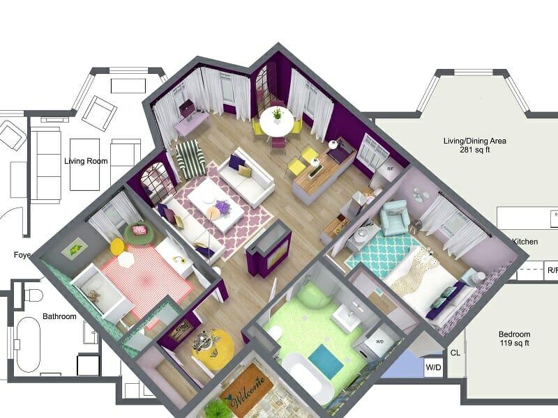 الصفحة الرئيسية برامج التصميم الداخلي غرفة رسم عبر الإنترنت