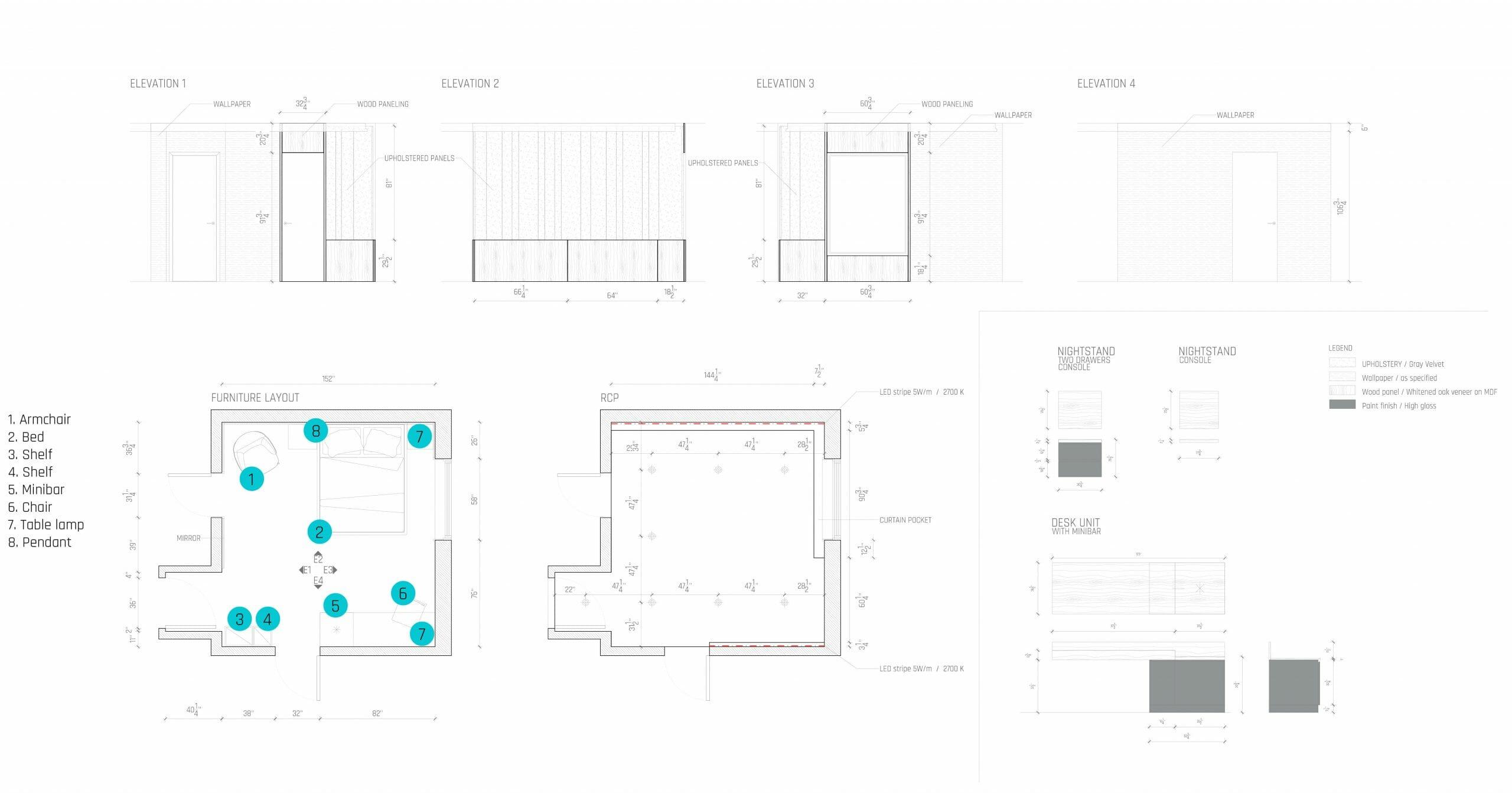 تصميم غرفة نوم على الإنترنت خطة الكلمة - decorilla