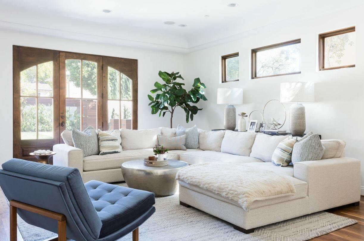 نصائح التصميم الداخلي لغرفة المعيشة