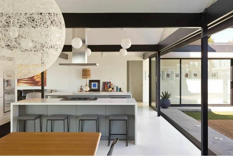 منتصف القرن الحديث تصميم المطبخ والديكور