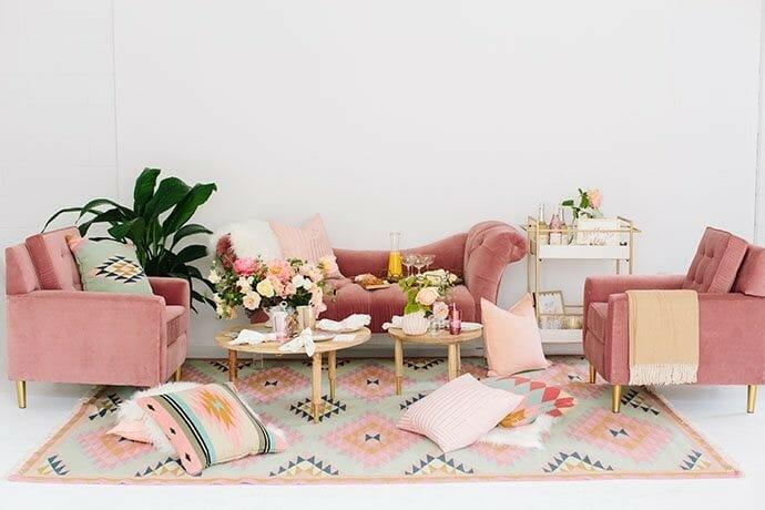 كيفية دمج الديكور الوردي في منزلك كل اللون الوردي