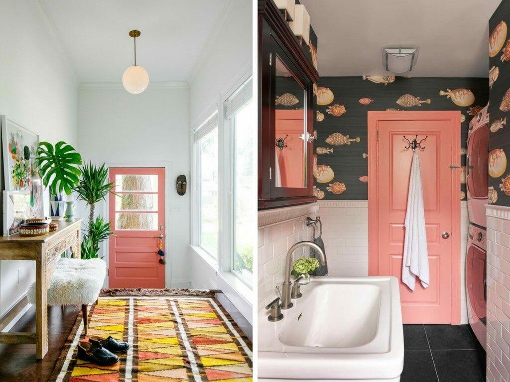 كيفية دمج الديكور الوردي في دخول منزلك