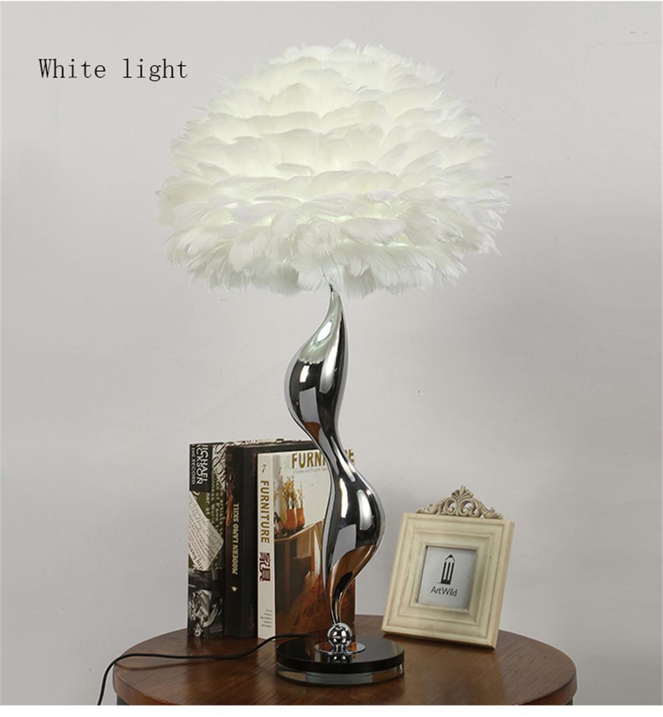 Nordic Luxury White Feathers Floor Lamp Modern LED Metal Flower Floor Standing Lamp Living Room Princess Room Decor Floor Light