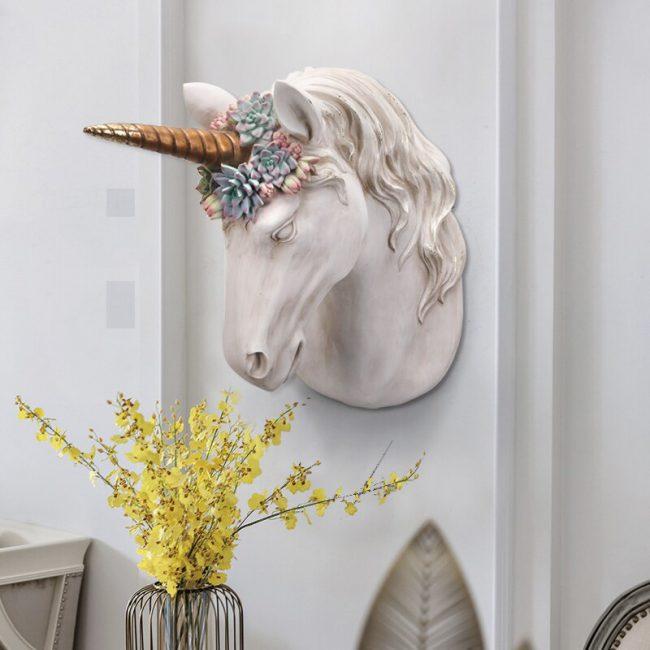 تمثال رأس حصان البراق الجداري اكسسوارات جدارية