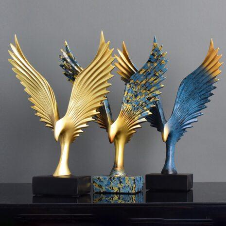 تمثال اكسسوارات اجنحة النسر الذهبية اكسسوارات منزلية