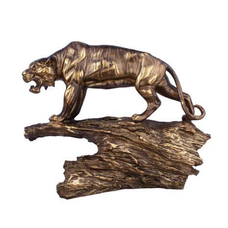 تمثال نمر الغابة النحاسي الشجاع اكسسوارات منزلية
