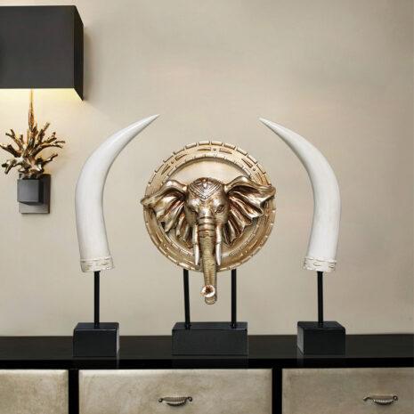 تمثال الفيل العاجي اكسسوارات المنزل اكسسوارات منزلية