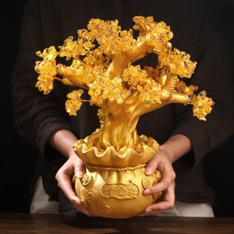 شجرة الحظ الذهبية اكسسوارات منزلية اكسسوارات منزلية