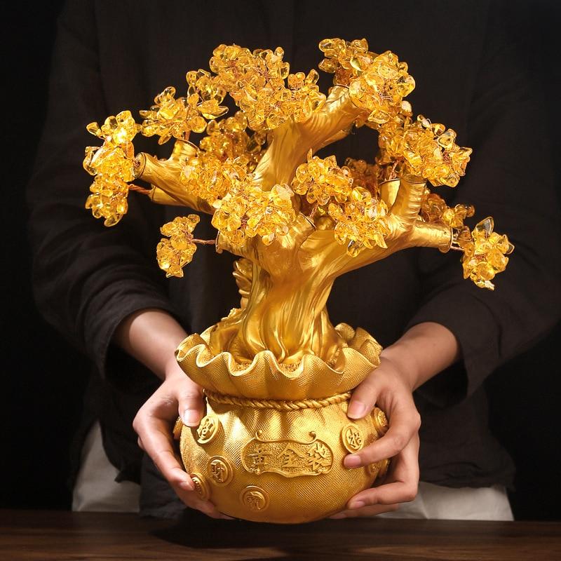 شجرة الحظ الذهبية اكسسوارات منزلية متجر الاكسسوارات المنزلية الفاخرة