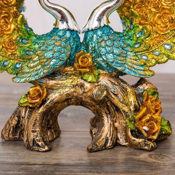 تمثال طاووس الاكسسوارات المنزلية اكسسوارات منزلية