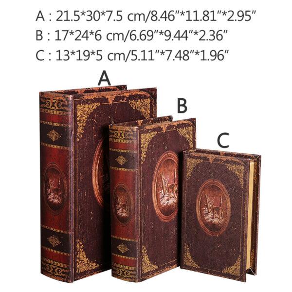 تحف و زينة الكتب الخشبية اكسسوارات منزلية