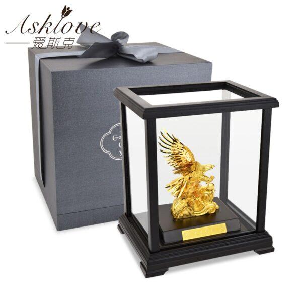 اكسسوار صندوق الصقر الذهبي اكسسوارات منزلية