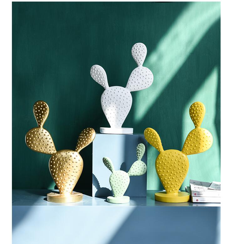 Nordic Style Resin Cactus Ornaments Home Livingroom Bedroom Table Figurines Crafts Office Desktop Plants Furnishing Decoration