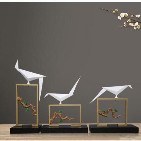 تماثيل الطيور الحديدية اكسسوارات المنزل اكسسوارات منزلية