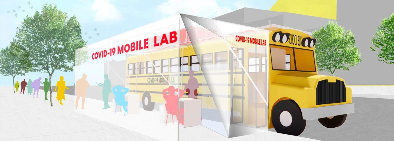 تحويل الحافلات الى مختبرات