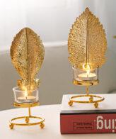 الشمعدان المعدني حامل الشمعة اكسسوارات منزلية
