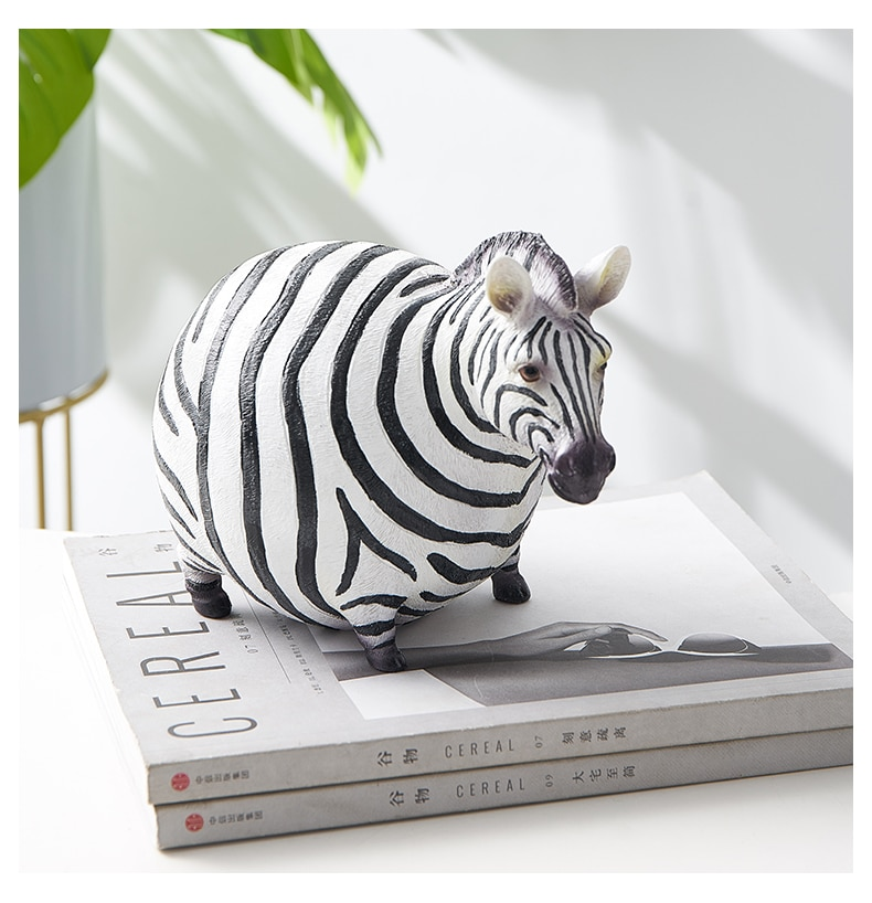 Miniature lovely zebra resin ornaments living children's room home decoration accessories bookshelf bedside table art furnishing