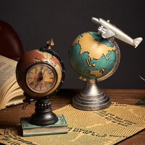 اكسسوارات منزلية ساعة الكرة الارضية الطائرة اكسسوارات منزلية